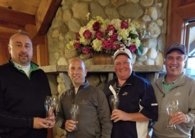 1st place team John Mangano, Marc Ginsburg, Tom Logan & Michael Wakeen